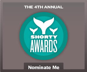 Nominate VeroniqueCheVAL for a social media award in the Shorty Awards!