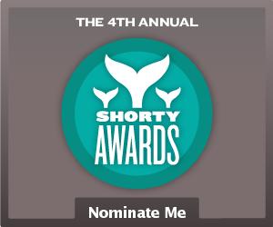 Nominate VeroniqueCheVAL for a social media award in the Shorty Awards!